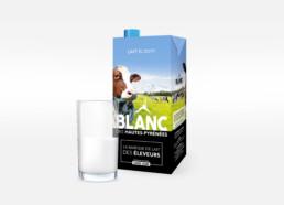 Brique de lait Blanc des hautes-pyrénées